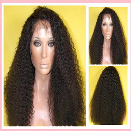 Wholesale top quality Kinky Curly Full Lace Wig With Baby Hair indian Virgin Human Hair Wigs