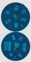 Wholesale Round Nail Art Stamp Image Plate Printing Plate Template