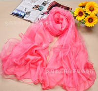 Wholesale New arrival Double silk rainbow silk scarves Fashion Women Silk Scarf FX