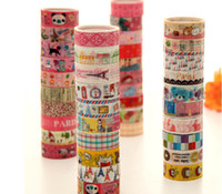 Wholesale Washi Masking Tape Cartoon Small series Diy Tag bookmarks Gift packaged band Sticky Korea style