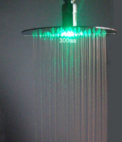 Wholesale 12 inches stainless steel ultra thin led round shower