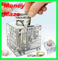 bank puzzle - Hot Selling MONEY MAZE coin box puzzle gift game prize saving bank educational toys