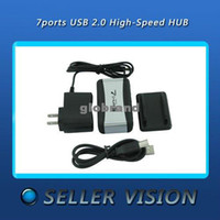 Wholesale GHJB187 US Plug Port USB High Speed HUB Powered AC Adapter Cable SPC US