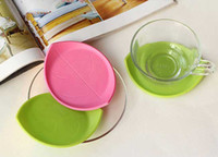 Wholesale Silicone Fresh Leaf Coaster Beautiful Cup Mat