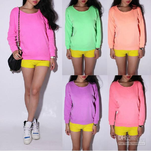 Neon Clothes For Women Wholesale - neon color long