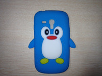 Silicone For Samsung  cute Rookery bird angel gel Silicone Penguin soft cases for Samsung S3 mini I8190 500pcs lot