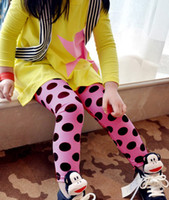 Girl beautiful tights - 2 Year girls leggings beautiful Candy color wave point kids leggings Spring children pants