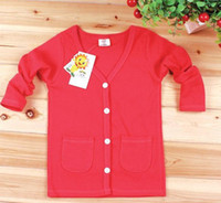 Wholesale New Children Sweaters Girl Boy Cardigan Children s Wear Long Sleeve Tops LZ1