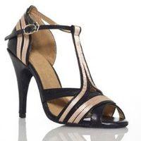 dance shoes - Discount Black Leather Dance Shoes Latin Ballroom Shoes Salsa Dance Shoes Tango Shoes Size