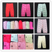 Wholesale Girls Baby Lace Leggings New Summer Children Lace Tight Pants Multicolors Kids Summer Leggings