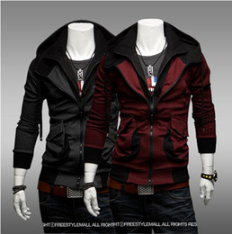 Wholesale 2013 NEW HOT Men s Slim Mixed colors Personalized pocket Thin Hoodies amp Sweatshirts Jacket Coat