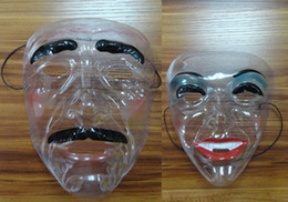 PVC transparent masks festival decorations male models female models to choose