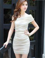 Wholesale Women sexy brand name evening dress fashion vintage dress design beige black
