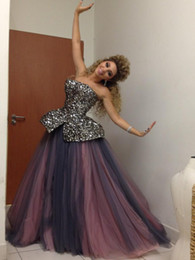 Wholesale Celebrity dress floor Length A Line Crystal Sweet Heart Myriam Fares Custome
