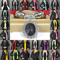 Wholesale 50pieces mix rhinestones pendant scarf charms ring jewelry beads soft shawl scarves necklace wraps