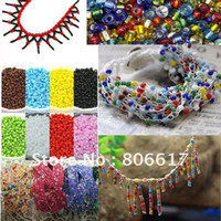 Crystal   Free Shipping 100 Gram (13 beads per gram (total 1300 beads) Glass Seed Beads 4mm Jewelry Making Findings(W01946-W01957)