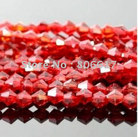 Wholesale 500 Red Cut amp Faceted Glass Beads Spacer Beads mm w00383