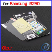 Wholesale Crystal Clear Screen Protector for Samsung i9250 Anti glare LCD Screen Shield Cover