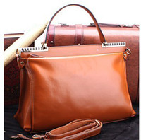 Wholesale New women s fashion briefcase spring cow leather laptop bag leisure OL handbag messenger bag