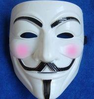Wholesale uy fawkes V vendetta team pink blood scar masquerade masks Halloween carnival Mask