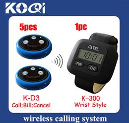 Wholesale Hot Sale Restaurant Waiter Caller System K D3 A set of pc receiver buttons