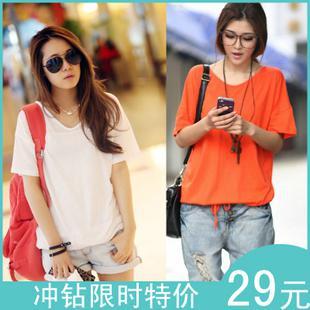 Free shipping summer fashion women's slim t shirt plus size female 316 T-shirt short-sleeve