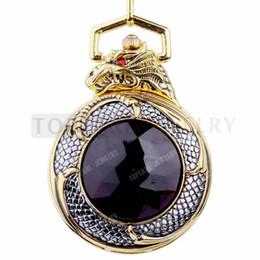 Wholesale Gold dragon alloy mechanical movement pocket watch LPW252