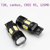 Wholesale Super Bright W T20 CREE R5 smd led backup light v led light