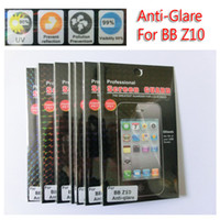 Wholesale JAPAN PET Matte Screen Protector for Blackberry Z10 BB Guard Flim Anti glare N retail pack DHL PC