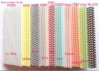Wholesale Wedding Supplies CM chevron printed Drinking Paper Straw Package Colors