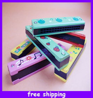 Wholesale Wooden Harmonica Kids Musical Instrument Educational Craft Toy Fully Function