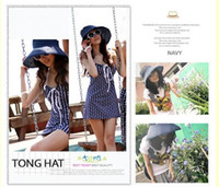 Wholesale Girl s Fashion Casual Roll Up Wide Brim Beach Sun Woman Hat Visor Cap Colors