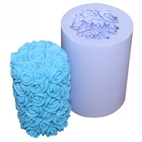 Wholesale LZ0088 handmade silicone candle mould rose flower DIY candle craft moulds