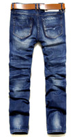 Wholesale HOT seller and retail brand new JEANS BLUE jeans Newly Style Cotton Men Jeans