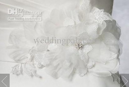 Wholesale Beaded Flower Fashion sash on waist for bridal dress wedding dresses wedding accessories