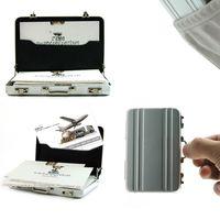 business card case - Hot Mini Briefcase Business Card Case Coin Case Aluminium Credit Card Holder
