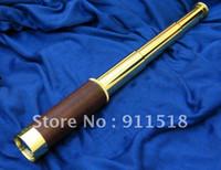 Wholesale Stretch ZOOM Monocular Brass X30 Scalable telescopic Pirate Focus Telescopes