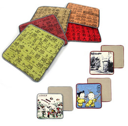 Wholesale China Wind Cup Coasters Beijing Opera Pad Calligraphy Mats Cloth Placemats