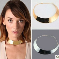 Wholesale Statement chokers collar Necklace Punk metal gold silver necklaces cheap Fashion Jewelry chokers
