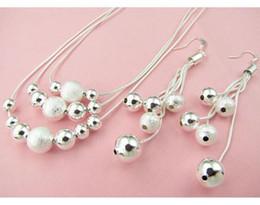 Wholesale DSSS hot sale women s silver jewelry set High grade sterling silver neckace earring set