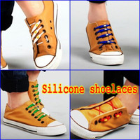 Wholesale 60pcs Novelty Colorful Silicone Shoelaces Shoe Parts Accessories Shoestring Latchet