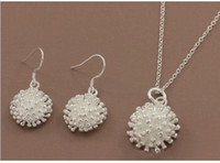 amber jewelry sale - DSSS so hot sale women s silver jewelry set High grade sterling silver neckace earring set