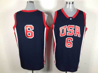 Wholesale 2012 Olympic Game USA Basketall Jerseys Blue Road Jersey Brand new with logo tags SZ M XL