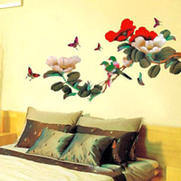PVC art bird houses - Cartoon peony bird PVC Wall Sticker Wall Decal Wallpaper Room Sticker House Sticker AY938