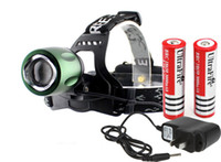 Wholesale 1set lm CREE XM L T6 LED Headlamp Coal Miner Zoom Focus LED Head Lamp Torch Cree Light Outdoor