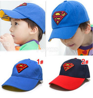 Wholesale snapbacks Children s Superman Returns baseball cap peaked cap kid s sport hat blue and navy color