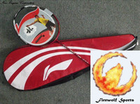 Wholesale Badminton Racket Original Li Ning WOODS N90 I Traceable racket case string with warranty card FR