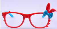 Wholesale women sunglasses frames rabbit ear cartoon heart bowknot candy colors sunglasses frame beachwear