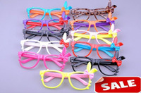Wholesale Lady women sunglasses frames rabbit ear cartoon love heart bowknot candy colors sunglasses frame
