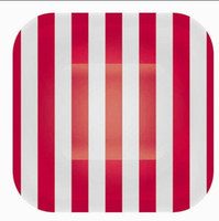 Wholesale Red Candy Stripe cm quot Square Plates Paper colours u choose Free ship